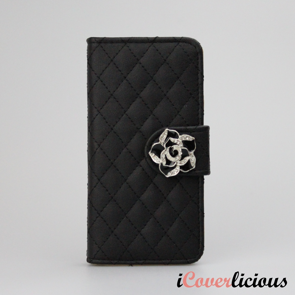 Black Diamond Rose Wallet