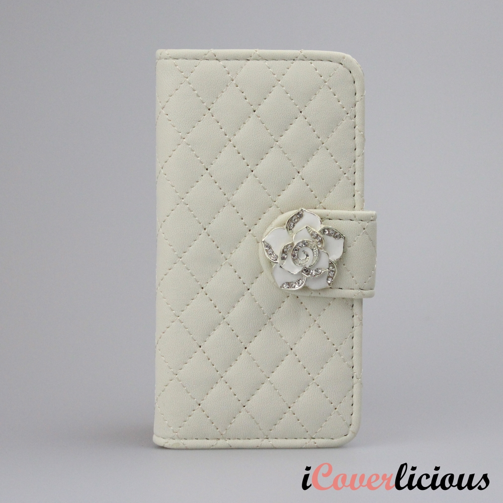 White Diamond Rose Wallet