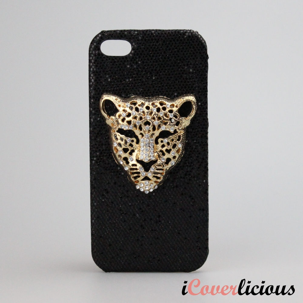 Black Leopard Bling Cover