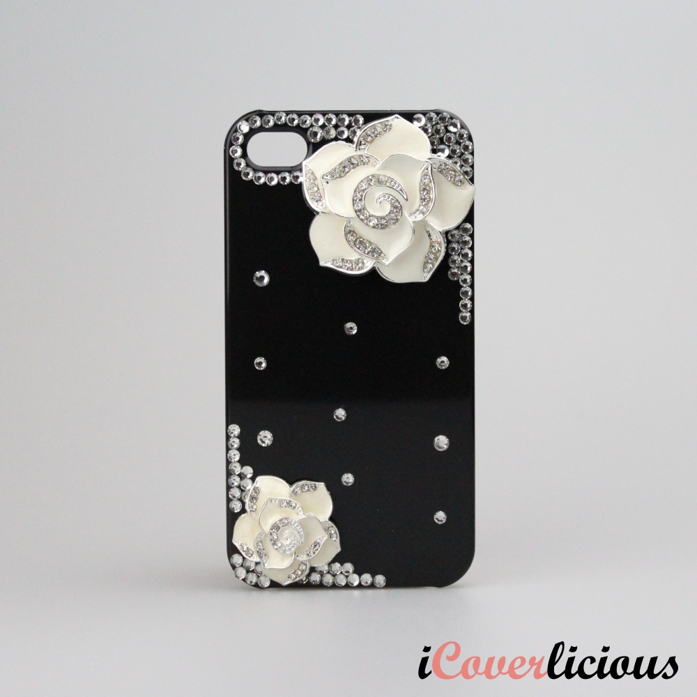 Bling Diamond Rose Cover